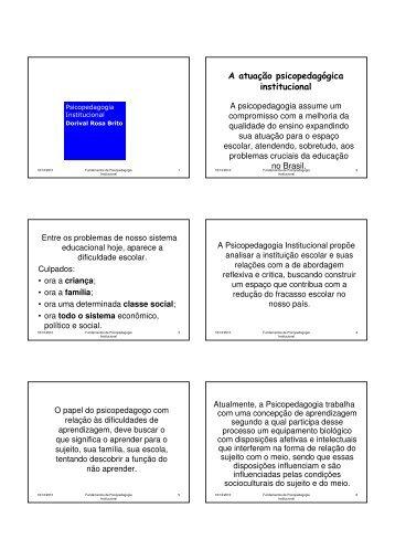 Psicopedagogia Institucional - Drb-assessoria.com.br