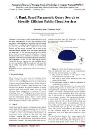 A Rank Based Parametric Query Search to Identify Efficient Public ...