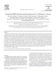 Automated MRI measures predict progression to Alzheimer's disease