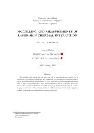 modelling and measurements of laser-skin thermal interaction - F9