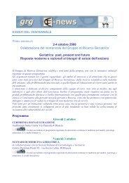 Fra le tematiche sociali della società italiana e più in generale ... - GrG