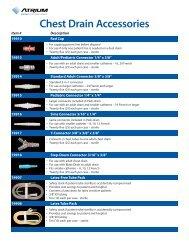 Chest Drain Accessories - Atrium Medical Corporation