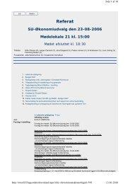SU-Økonomiudvalg den 2006-08-23 - Billund Kommune