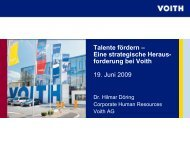 Talente fördern – Eine strategische Heraus- forderung bei Voith 19 ...