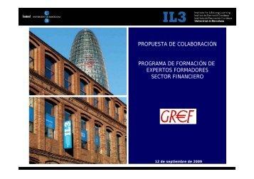 PROPUESTA DE COLABORACIÓN PROGRAMA DE ... - Gref