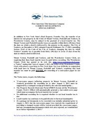 Issued July 2, 2013 - Special Edition - First American Title Insurance ...