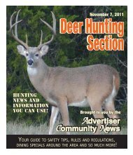 2011 deer hunting guide - Advertiser Community News
