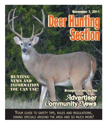 2011 deer hunting guide - Advertiser Community News