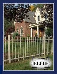 Plate ail End - Elite Fence Products, Inc