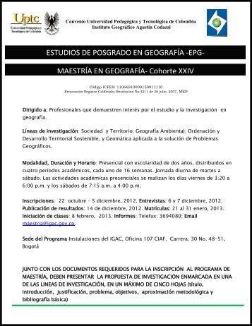 Santa Fe de Bogotá, enero 20 de 1998 - Instituto Geográfico Agustín ...