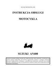 instrukcja obsługi motocykla suzuki an400 - Suzuki Motor Poland