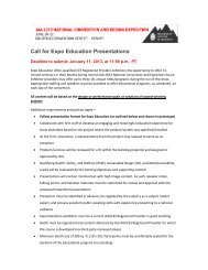 Call for Expo Education Presentations - AIA National Convention