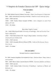 V Simpósio de Estudos Clássicos da USP – Épica ... - IEL - Unicamp