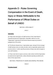 Appendix D - Rules Governing Compensation in the Event ... - Unido
