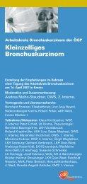 Empfehlung vom Arbeitskreis Bronchuskarzinom