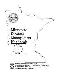 Minnesota Disaster Management Handbook - Minnesota State ...