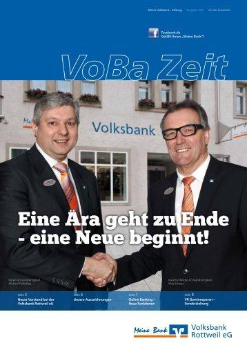 """Eine Ã""""ra geht zu Ende - eine Neue beginnt! - Volksbank Rottweil"""