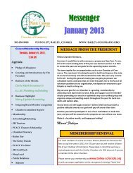 Messenger January 2013 - Chamber Organizer