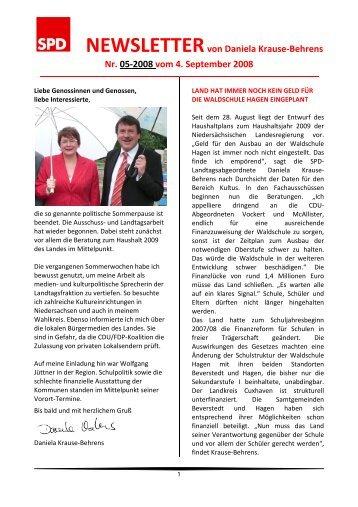 Newsletter 05-2008 - Daniela Behrens