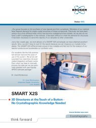 Read complete testimonial on SMART X2S by Dr. Monkowius - Bruker