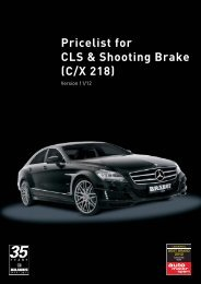 Pricelist for CLS & Shooting Brake (C/X 218) - Lenartowicz