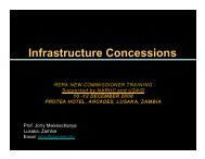 Infrastructure Concessions - Narucpartnerships.org