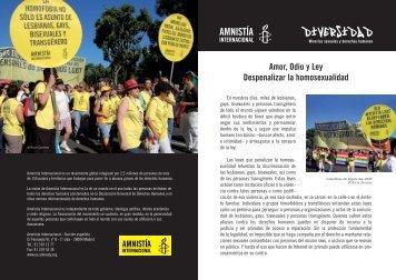 Amor, Odio y Ley Despenalizar la homosexualidad - Amnistia ...