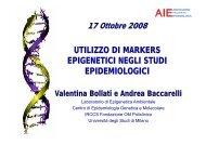 Utilizzo di markers epigenetici negli studi epidemiologici