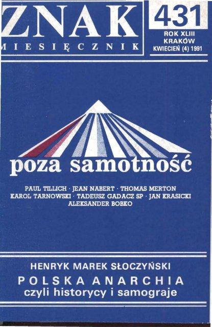 Nr 431 Kwiecieå 1991 Znak
