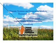 Organic Systems and Ecosystem Markets - Sustainable Food Trade ...