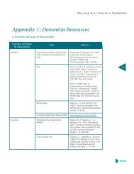 Dementia Resources - Long-Term Care Best Practices Toolkit