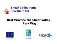 Sheaf Valley Park Sheffield UK Best Practice the ... - MP4-Interreg