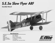 SE5a Slow Flyer ARF - Great Hobbies