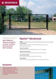 Nylofor® tiibväravad - Fagel