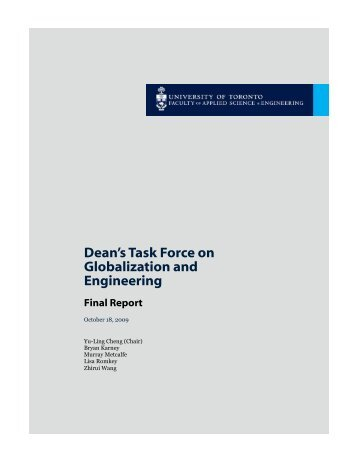 Final Report on Globalization - Faculty of Applied Science ...