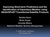 Improving Short-term Predictions and the Identification of ... - GOES-R