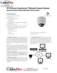 IP110 Series Camclosure® Network Camera ... - Cables Plus USA