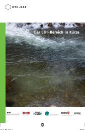Der ETH-Bereich in Kürze 2013 (PDF, 1866 KB) - ETH-Rat