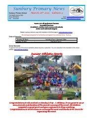 Newsletter No 9 March 28 2013 - Sunbury Primary School