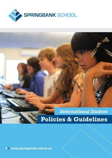 Policies & Guidelines - Springbank School