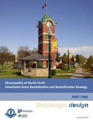 Streetscape design - Municipality of North Perth