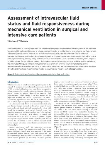 Assessment of intravascular fluid status and fluid ... - JICS