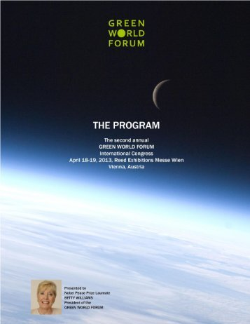 Page 1 of 7 PROGRAM 2013 GREEN WORLD FORUM Version 6 ...