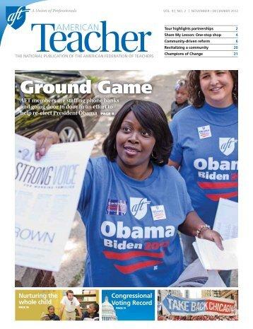 American Teacher (AFT) Nov-Dec 2012 Issue - Detroit Public Schools