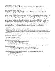 1 M. Petrea Cober, PharmD, BCNSP Pharmacy Clinical Coordinator ...