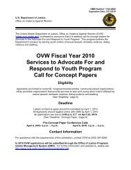 OVW Fiscal Year 2010 Services to Advocate For and Respond to ...