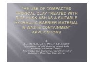 The use of compacted tropical clay treated with rice husk ... - codwap