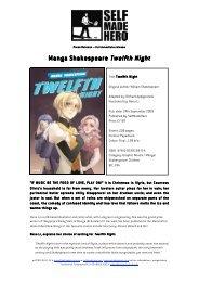 Manga Shakespeare Twelfth Night - SelfMadeHero