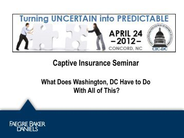 Cells and Cell Companies - Captive Insurance Council of the District ...