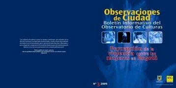 Boletín N.3 - Percepción de la violencia contra las mujeres en Bogotá
